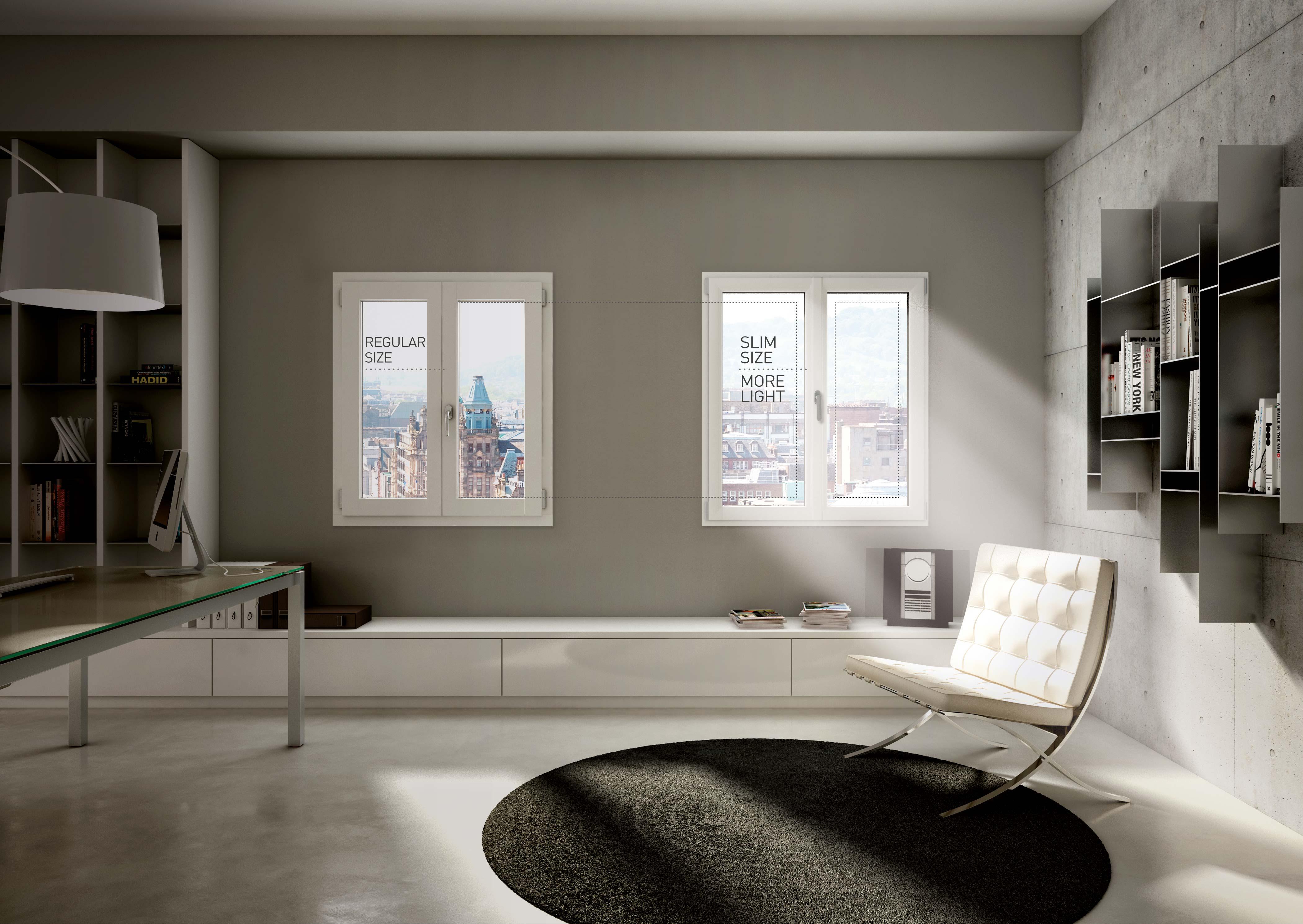 Finestre pvc milano prolux di oknoplast for Es finestra