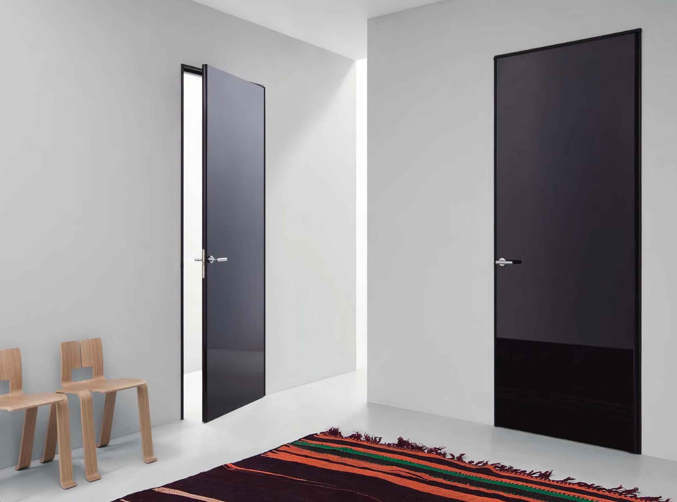 Porte colorate effetti nell 39 abitazione - Porte lualdi rasomuro ...