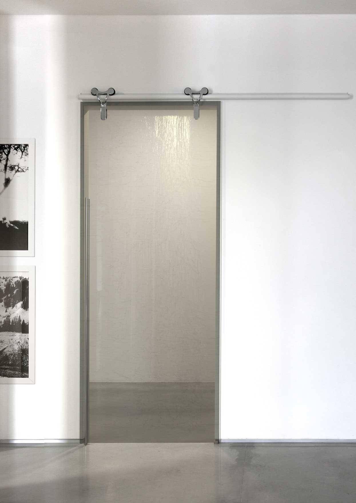 Porta scorrevole vetro logika adielle tecnologia e - Porta in vetro scorrevole ...