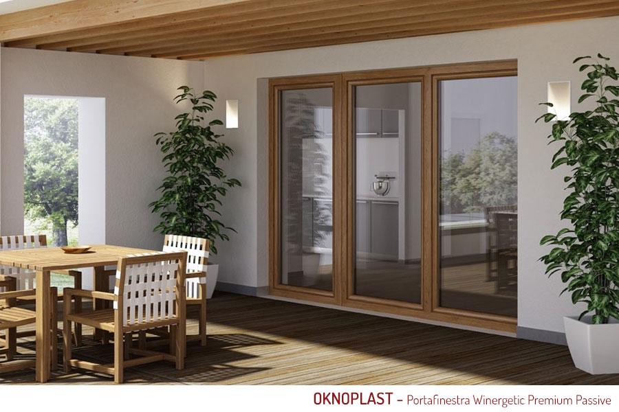 Porta finestra pvc oknoplast for Porte e finestre pvc