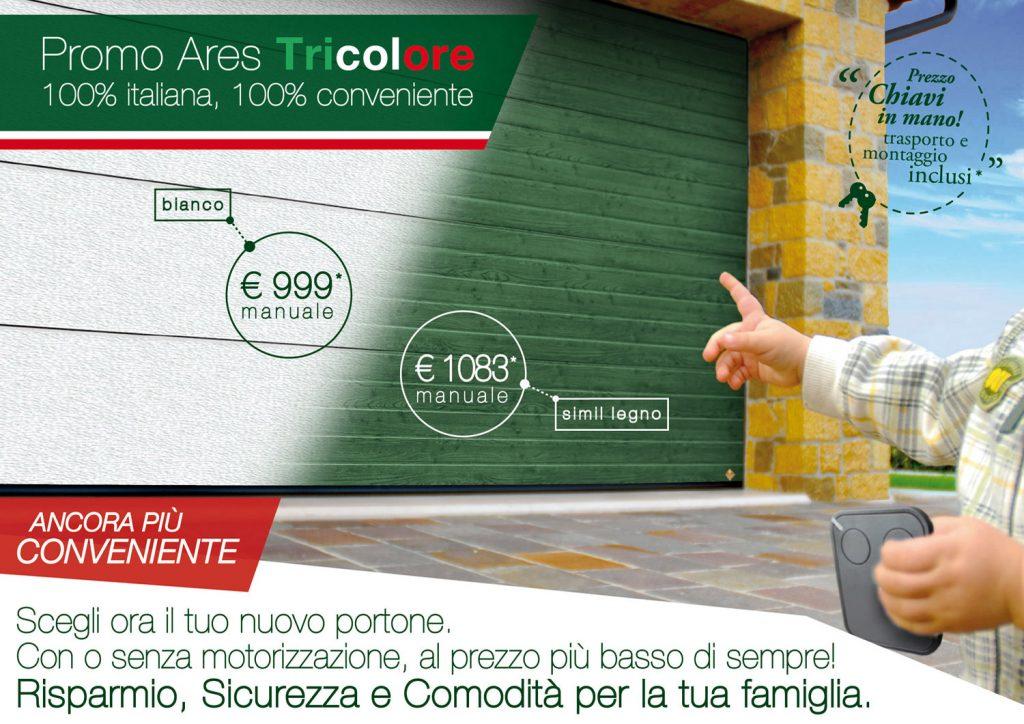 portoni per garage promozione Ares Tricolore Breda