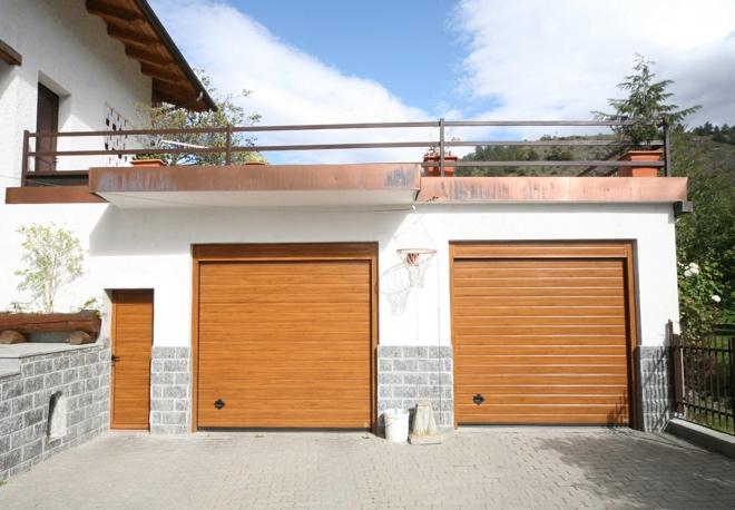 Portoni per garage Breda Promozione Tricolore Simil Legno Quercia multi