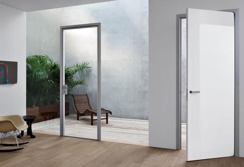 Porte da interni porte di alluminio vetro atres living - Porte d interni design ...